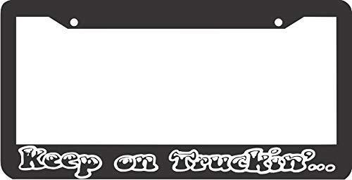 Racing angel Personalized License Plate Car Decoration - Metal License Plate Frame for Women/Man Keep On Truckin' Truckin Trucking Diesel Truck