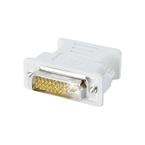 conecto CC20103 Adaptador DVI-D a VGA (conector DVI-D (24 1 clavija) a conector VGA (15 clavijas), contactos enchapados en oro (1 pieza), Gris