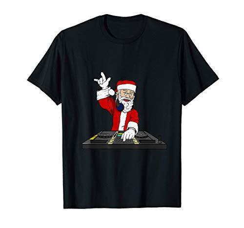Retro Santa Claus like music & Dj Gift for Christmas & Xmas T-Shirt