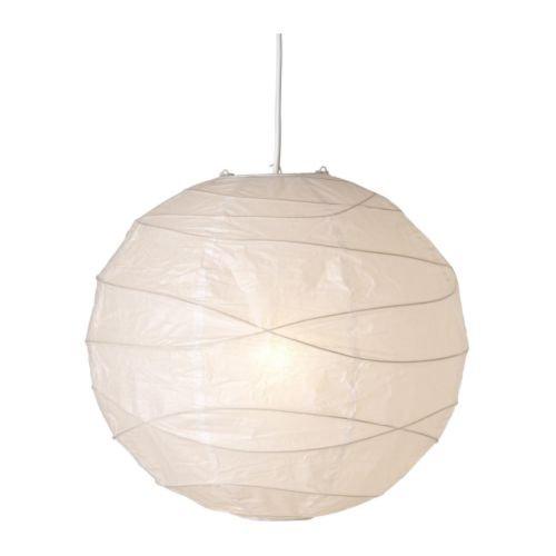 REGOLIT Hängeleuchtenschirm, weiß, Papier, White, 45 x 45 x 45 cm