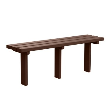 Kirby Built Products 4' Carolina Backless Players Bench Inground Mount - Brown