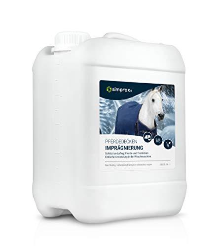 simprax® Pferdedecken Wash-In Imprägnierung 5 Liter Einwaschimprägniermittel Atmungsaktiv umweltfreundlich Tierdecke Hundedecke Waschmaschine/Handwäsche