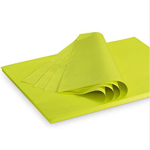 Seidenpapier Packseide farbig Limette Grün 35 g/qm 375x500 mm VE 2 Kg