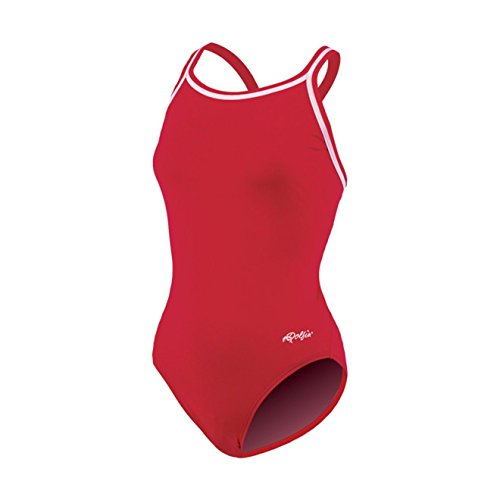 Dolfin Chloroban Team Solid Suit Womens - Red 38
