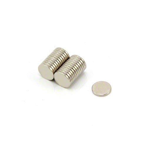 Magnet Expert F322-25 - Imanes circulares para manualidades (neodimio resistente, 8 x 1 mm, 0,41 kg, 25 unidades)