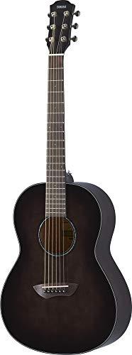 Yamaha CSF1M TBL Parlor Size Acoustic Guitar with Hard Gig Bag, Translucent Black