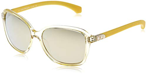 Calvin Klein Jeans Sonnenbrille Ckj760S 740-58-16-135 Gafas de sol, Amarillo (Gelb), 58.0 para Mujer