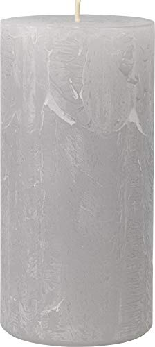 safe candle Rustic Kerze selbstverlöschend, 4 Stück, Höhe 14 cm/Ø 7 cm, 69 Std. Brenndauer (Silbergrau)