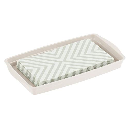mDesign Plastic Storage Organizer Tray for Bathroom Vanity Countertops, Closets, Dressers - Holder...
