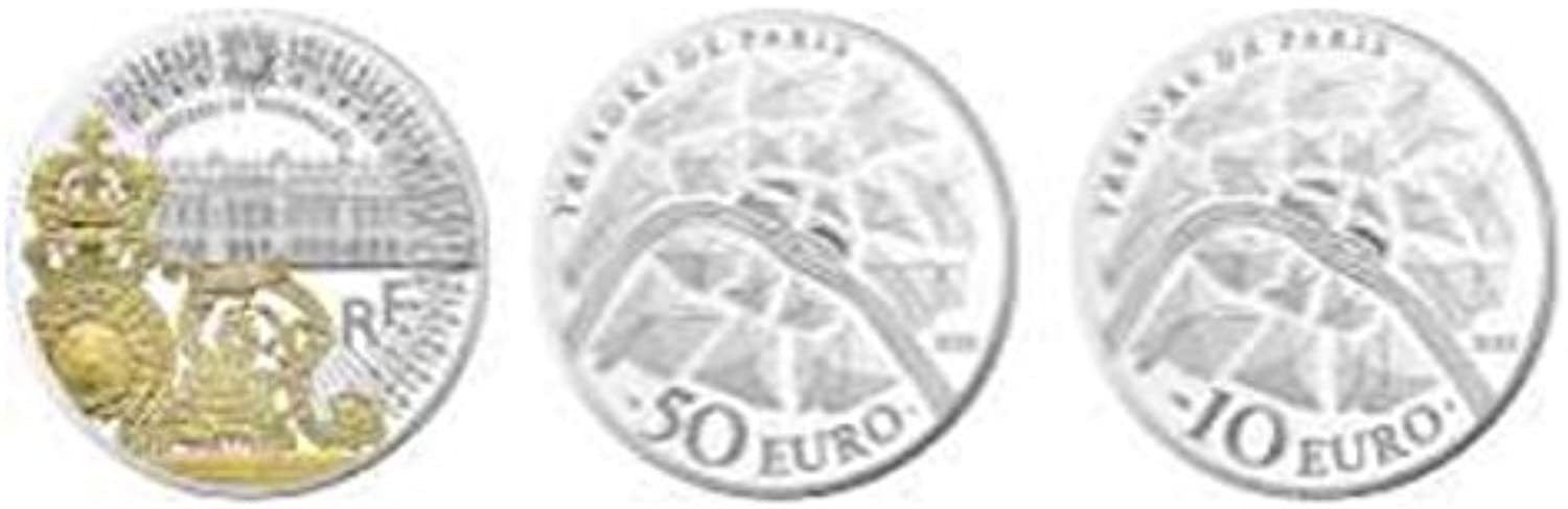 TGBCH Treasures Of Paris- Gate Of The Chateau de Versailles Proof Coin Silber 10Euro