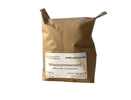1000 g Emmervollkornmehl, Schwarzemmer, weitestgehend entwest, frisch gemahlen