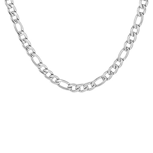 Amaal CN-A209 Jewellery Latest Handmade Stainless Steel Platinum Diamond Silver Necklace Chain for Men