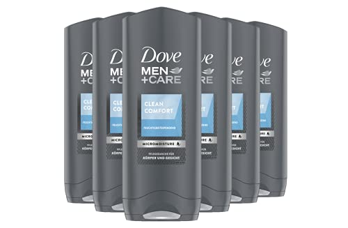Dove Men+Care Duschgel, Clean Comfort, 6er Pack (6 x 250 ml)