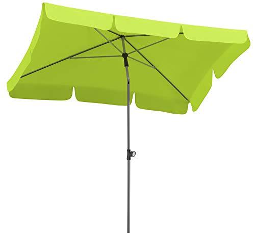 Schneider Sonnenschirm Locarno, apfelgrün, 180x120 cm rechteckig, Gestell Stahl, Bespannung Polyester, 2.3 kg