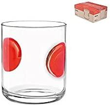 Bormioli Rocco 390700M02321734 Giove Agua 31 cl, Diseño de Sellos, Color Rojo