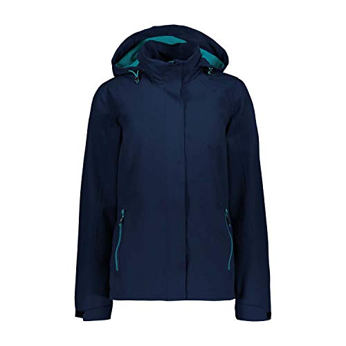 CMP Damen Softshelljacke Woman Jacket Zip Hood 30Z5066 Blue 36