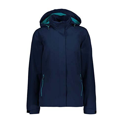 CMP Damen Outdoor Jacke mit ClimaProtect Technologie, Blue, D42