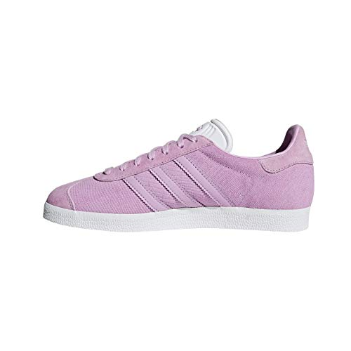 adidas Gazelle W, Zapatillas de Gimnasia, Rosa (Clear Lilac/Clear Lilac/FTWR White Clear Lilac/Clear Lilac/FTWR White), 35.5 EU