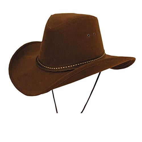 Kakadu Traders Cowboy Western Plains Soaka mit formbarer Krempe in braun