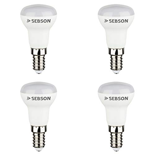 SEBSON® LED Lampe E14 R50 Reflektor 6W warmweiß 3000k, ersetzt 35W, 460lm, Ra97, 230V LED Leuchtmittel flimmerfrei, E14 R50 Reflektorlampe, 4er Pack