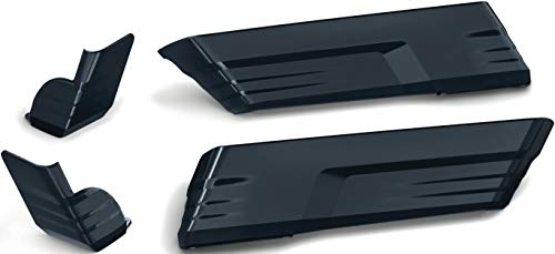 Kuryakyn 7191 Motorcycle Accent Accessory: Speedform Saddlebag Extensions for 2014-19 Harley-Davidson Touring Motorcycles, Gloss Black, 1 Pair