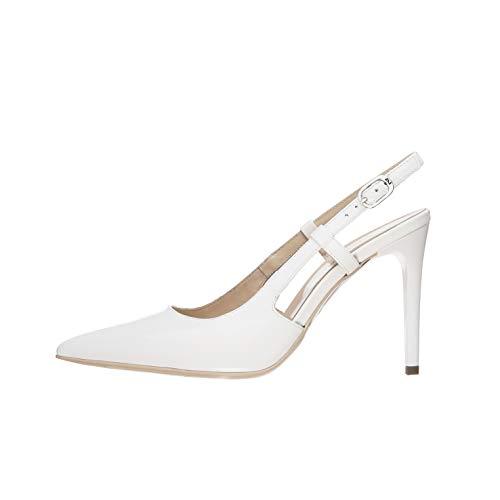 NeroGiardini E011040DE Zapatos De Salón Mujer De Charol - Blanco 38 EU