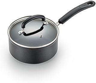 T-fal C5612464 钛高级不粘锅温点温度指示器洗碗机*厨具炖锅,3 夸脱,黑色