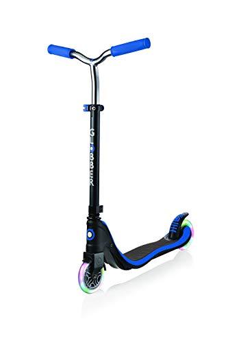 Globber Flow 125 [My Too Fix Up] Scooter con ruedas Light Up - Negro y azul marino