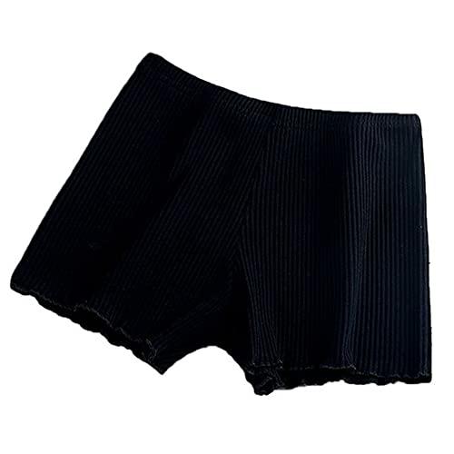 N\P Ladies Mujeres Summer Sur Safety Pantalones Hilo A Rayado Rayado Inconsútil Elástico