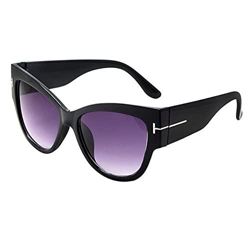 Berrd Moda Gafas de Sol de Gran tamaño para Mujer Retro Sexy Gafas de Sol de Ojo de Gato diseñador de Marca de Gama Alta Gafas de Sol para Mujer UV400 Viajes al Aire Libre