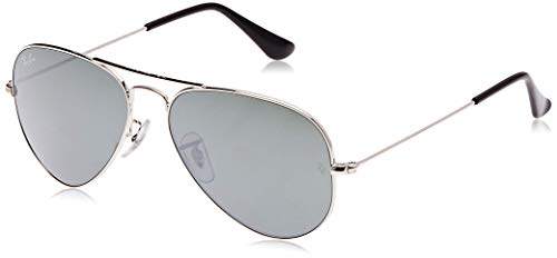 Ray-Ban - Gafas de sol Aviador RB3025-W3275 Large Metal Aviator RB 3025 W3275, Silver (Silber)