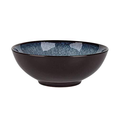 Tazón Japonés ensaladera azul de sopa ramen cuencos de cerámica creativa retro vajilla vajillas hogar, tazón retro