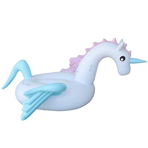 Ocean 5 XXL Pegasus Badeinsel 240cm x 240cm × 120cm, aufblasbares Schwimmtier, riesen Luftmatratze, Wasser-Liege, Pool-Lounge, Schwimmreifen als Schwimmtier für Kinder und Erwachsene