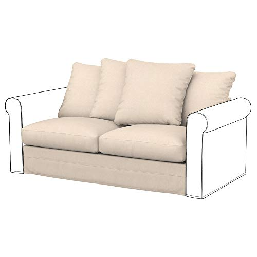 Soferia Funda de Repuesto para IKEA GRONLID módulos sofá Cama de 2 plazas, Tela Softi Beige, Beige