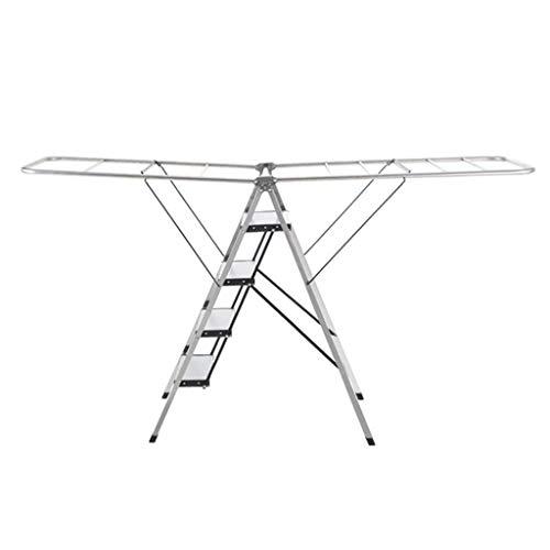 SZQ Slaapkamer Ladder, Vier-staps Opvouwbare Metalen Ladder Thuis Woonkamer Ladder Grootte 188 * 45 * 107CM Arbeidsbesparing 188 * 45 * 107CM