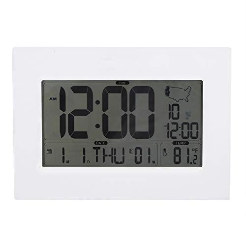 Preisvergleich Produktbild Smart Wecker,  tragbare Uhr,  mit Alarm- und Wiederholungsfunktion,  Multifunktionsanzeige: Uhrzeit,  Monat,  Datum und Anzeigetemperatur,  Keine manuelle Konfiguration erforderlich(Weiß)