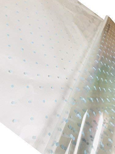 Inerra 2 Metros X 80cm Topos Celofán Película Envoltura (Plegado) 8 Colores Vibrantes - Puntos Azules, 2 Metres x 80cm sheet