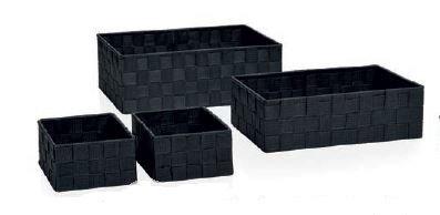 Andrea BA64199 House-Set Boites Entrelacement 4 Gris