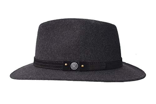 Wegener - Cappello in melange grigio scuro grigio. XX-Large