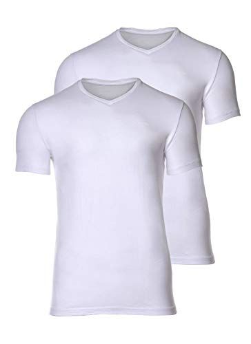 Joop! Herren V-Neck T-Shirt, 2er Pack, Weiss, XL