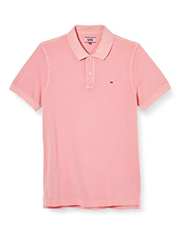 Tommy Jeans Herren TJM Lightweight Polo Hemd, Pink (Rosey Pink), M