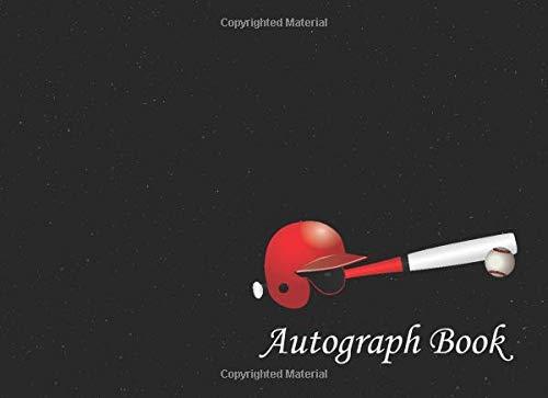 Baseball Autograph Book: Baseball Helmet, Bat, and Ball, Signatures Blank...