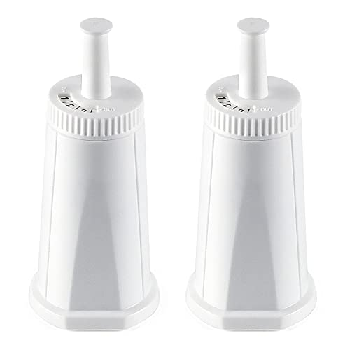 2 Pack Breville Bes880 Water Filter Replacement,Compatible with Breville Sage Oracle Touch, Barista, Claro Swiss, BES878, Bes920, Bes008 Espresso Coffee Machine,Replaces Part #BES008WHT0NUC1