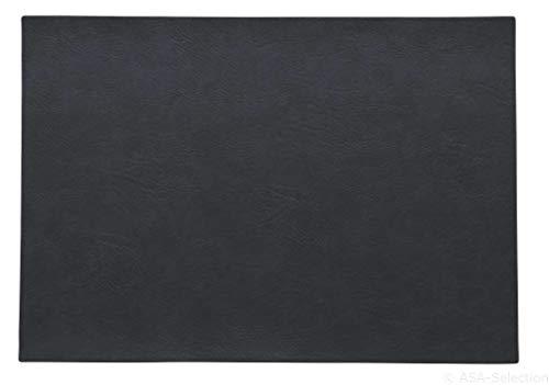 ASA - Tischset, Platzset - Farbe: Nightsky Schwarz - Kunstleder - 46 x 33 cm - 6er Set