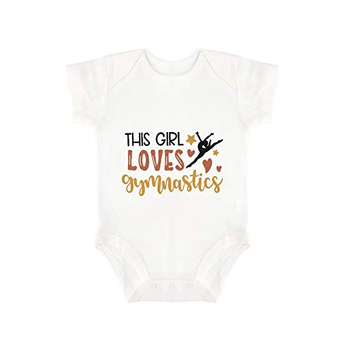 Promini Lindo bebé mono esta chica ama gimnasia bebé mono bebé una pieza mameluco mejor regalo para bebé
