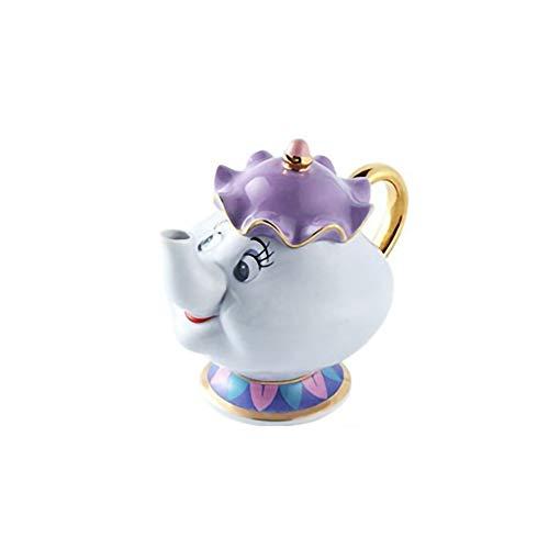 Die Schöne Und Das Biest Mrs Potts Ceramics Vergoldete Teekanne Teetasse EIN Set, EIN Gutes Geschenk Für Fre&e Teekanne