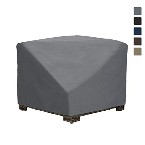 Patio Corner Sectional Cover 12 Oz Waterproof - 100% UV & Weather Resistant Patio Chair Cover with Air Pockets and Drawstring for Snug Fit (34W x 34D x 30H, Grey)