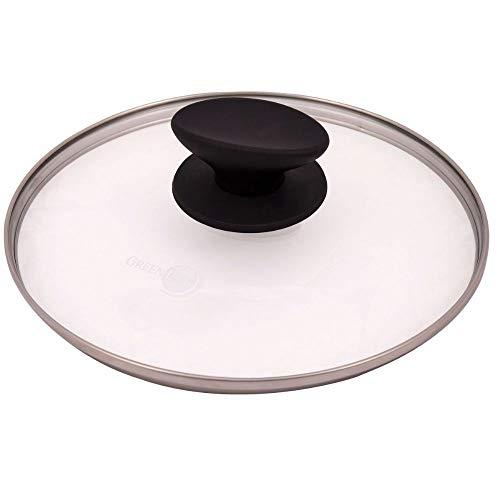 Greenpan Couvercle de casserole en verre trempé Chef Kitchen Cookware pour casserole et casseroles – 20 cm