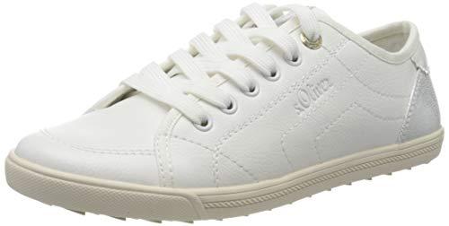 s.Oliver Damen 5-5-23631-24 Sneaker, Weiß (White/Silver 193), 38 EU