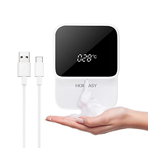 homeasy USB Seifenspender Automatisch 280ml Schaumseifenspender Wandbefestigung ohne Bohren No Touch Soap Dispenser
